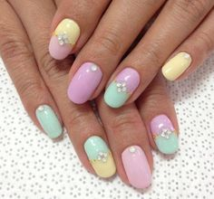 Eggs are cool and all, but we much prefer #Easter #nails Source    Pinterest #nailart #makeup #BeautyCircle