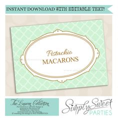 INSTANT download with EDITABLE TEXT by SimplySweetParties on Etsy