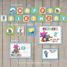 Pocoyo Birthday / Pocoyo Mini Party Package by LittleApplesDesign, $16.00