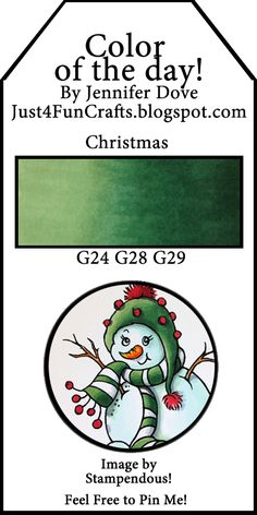 Copic color of the day-Christmas