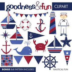Adorable #free Nautical #clipart by @mygrafico http://blog.luvly.co/