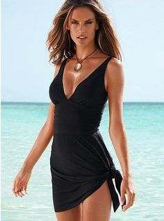 One Piece Swimsuit With Bottom Wrap