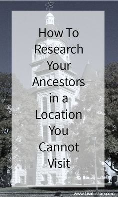 You have heard it before - Not all (actually, MOST) genealogy records are not online. Unfortunately, those records seem to be where I am not. Traveling to multiple repositories is time consuming and expensive. So, how do we as genealogists access those mu Free Genealogy Sites, Genealogy Search, Genealogy Chart, Family Genealogy, Dna Genealogy, Free Genealogy Records, Leaving Home, Family Tree Research, Genealogy Organization