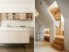 PlywoodInteriors10 -really like the POP of the wood against the painted interior.