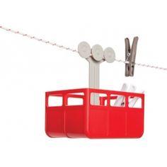 Opbevaring til tøjklemmer - Cabina (Rød)