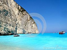 Neon Water - Navagio Beach - Shipwreck Bay - Greece - Download From Over 26 Million High Quality Stock Photos, Images, Vectors. Sign up for FREE today. Image: 44375050