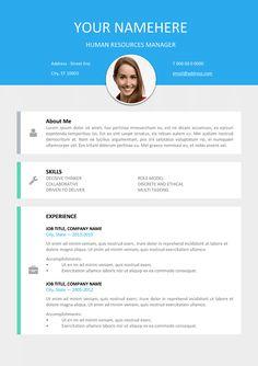 35 best modern creative resume templates images on pinterest in