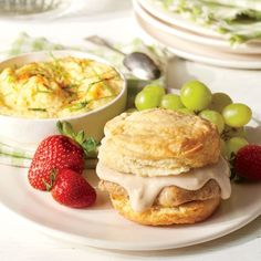 Breakfast for Dinner: Pork Chop Sandwiches with Gravy and Grits