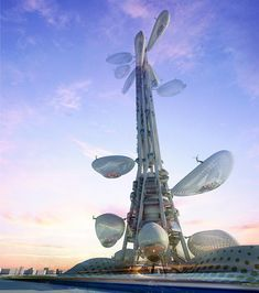 floating observatories winning design of taiwan tower conceptual competition