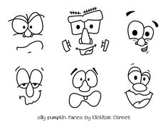KlickitatStreet+silly+pumpkin+faces+drawing.jpg 792×612 pixeles