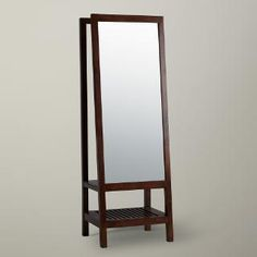 Buy Willis & Gambier Kerala Leaning Mirror, Rich Cherry | John Lewis