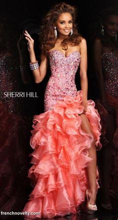 Sherri Hill 21127 High Low Ruffle Mermaid