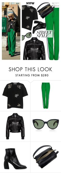 """""""NYFW: Street Style"""" by ifchic ❤ liked on Polyvore featuring McQ by Alexander McQueen, MSGM, RED Valentino, Oliver Peoples, TIBI, 10 Crosby Derek Lam, contestentry, nyfwstreetstyle and ifchic"""