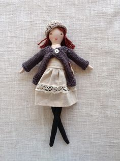 Modern cloth doll Doll with clothes Handmade fabric by Dollisimo                                                                                                                                                                                 More