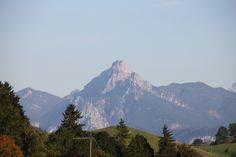 Blick von Nesselwang im Ostallgäu auf den Säuling in der Nähe von Pfronten.