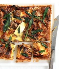 Roasted Onion, Artichoke, Brie and Walnut Tart   MiNDFOOD
