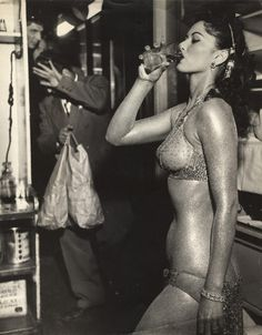 NY Weegee Collection  Gold Painted Stripper