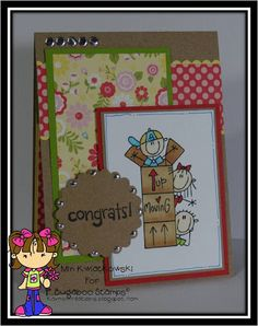 A little moving card for some friends who just purchased a new house!  Created by Min using AKV Bugaboo Stamps digi.