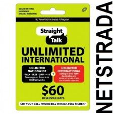 Straight Talk $60 Prepaid service Top Up Refill Reload Card PIN Load Service