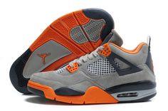 premium selection 1ee89 df53f Air Jordan 4 Retro Suede Wolf Grey Orange. HiJordan.com