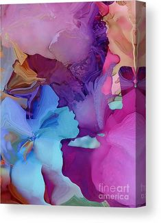 Alcohol Ink Flowers Canvas Print by Klara Acel. All canvas prints are professionally printed, assembled, and shipped within 3 - 4 business days and delivered ready-to-hang on your wall. Choose from multiple print sizes, border colors, and canvas materials. Alcohol Ink Tiles, Alcohol Ink Crafts, Alcohol Ink Painting, Acrylic Painting Flowers, Canvas Art, Canvas Prints, Abstract Canvas, Zentangle, Flower Canvas