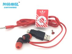 Thời trang Mini Clip Máy Nghe Nhạc MP3 Hỗ Trợ Thẻ TF Với Tai Nghe & Mini USB di động thể thao Music player mp3
