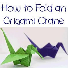 How to Fold an Origami Crane link to instructions. Much needed for the mobile I want to make!