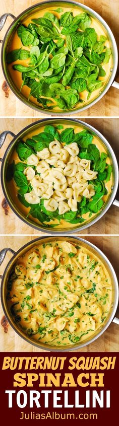 Break out the HEALTHY pasta! How comforting and delicious does this butternut squash spinach tortellini recipe sound?