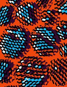 Orange and Blue Optical Pattern - Sarah Bagshaw