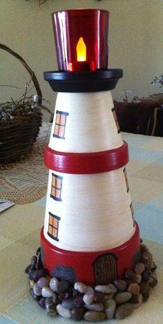 Unique lighthouse idea! #lighthouse #lamp