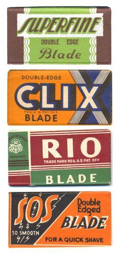 Package design: vintage razor blades flickr set
