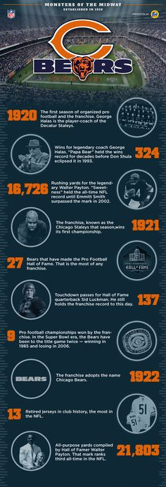 Chicago Bears (NFL) Info Graphic by David Gates