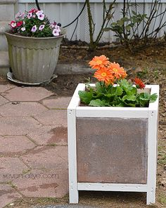 DIY Paver Planter Box