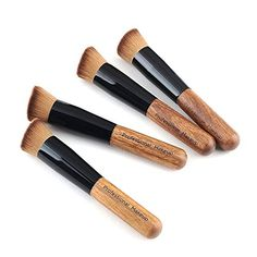 New Pro 5 pcs Powder Angled Soft Brush Makeup Face Blush Make Up LiquidCream Foundation Concealer ** You can get additional details at the image link.