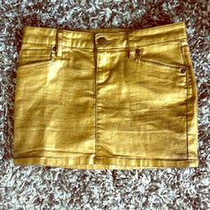 """Gold BCBGeneration Skirt Party-ready gold BCBGeneration Skirt.  Tag says """"23,"""" fits like an S. BCBGeneration Skirts"""