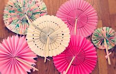 I wanted something a little bit different for decor for avery's actual bday and maybe something I could take with us and save for later. Hand Fan, Decor, Hand Fans, Homemade, Paper Envelopes, Preschool, Decoration, Decorating, Deco