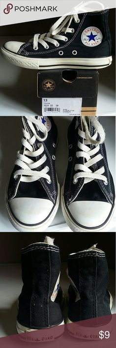 Boy's Converse Chuck Taylor Black All Star Converse Shoes Sneakers