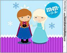 Frozen Niñas en Navidad: Etiquetas Candy Bar para Imprimir Gratis.
