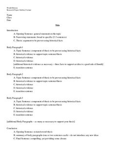 Research paper sample outline