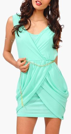 Mint All Chained Up Dress ♥