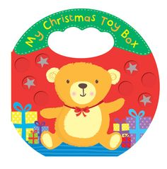 L) A sweet Christmas board book with jolly illustrations of Christmas toys. With an easy-to-grip handle and rattle to shake, this is a perfect Christmas book for toddlers.