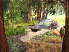 Image result for natural dry creek bed and tropical landscape design