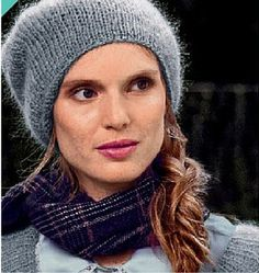 The Parisian Chic Rolled Hat is a great way to display your fun and fashionable side. This gray knit hat has a slightly slouchy fit and this type of style is very on trend. You will look effortlessly cool once you don this knitted hat. The neutral color means this topper will go with just about anything in your closet. Don't worry about trying to match your accessories to your outfit, because this free knit hat pattern does all the work for you.