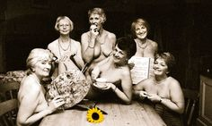 How they raised money for leukaemia members of the Rylstone & District Women's Institute, 1999 calendar shot ~ I love what they did and I loved the movie they made about it!!