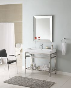 "Empire Industries South Beach 31"" Console SB31 / M31W1 :: Bath Vanity from Home & Stone"