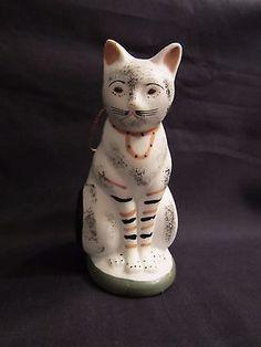 CHALKWARE CAT ORNAMENT REPRODUCTION 1993 METROPOLITAN MUSEUM FINE ARTS NIB