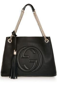 Gucci | Soho medium textured-leather shoulder bag | ht