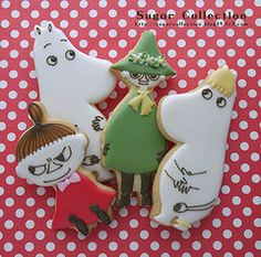 To know more about JILL's Sugar Collection's photostream moomin cookies, visit Sumally, a social network that gathers together all the wanted things in the world! Cookie Icing, Biscuit Cookies, Royal Icing Cookies, Sugar Cookies, Cookies For Kids, Fancy Cookies, Cute Cookies, Les Moomins, Biscuit Decoration