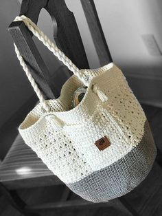 *This listing is for a DIGITAL PATTERN that you can download once payment has cleared and not an actual finished item* The Soleil Bag is versatile and can be used as a beach bag, a crochet project bag, an everyday bag and even a market bag. Made of 100% cotton, it can be easily thrown in