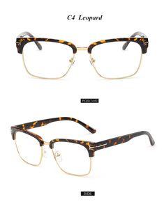 6019d31ef6e Brand Half Frame Female Eyeglasses Men Vintage Eye Glasses Frame for Women  Optical Spectacle Frame Reading Prescription Eyewear